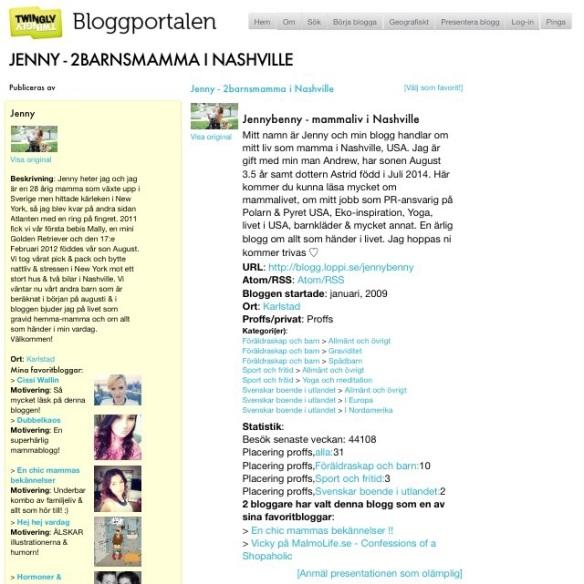 Jennybenny bloggportalen